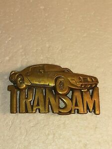 1980 BARON BRASS TRANSAM BELT BUCKLE