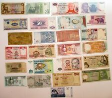 Set of 25 Circulated Foreign Banknotes Paper Money: World > Collections & Lots