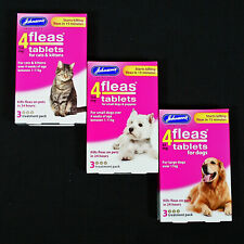 More details for johnsons 4fleas 3 tablets pack start to kill dog & cat fleas in 15 minutes-rspca