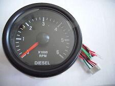 Drehzahlmesser neu für Diesel & Benzin Motoren 12V DZM Bootsdiesel