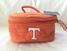 NWT Orange Quilted Fabric Cosmetic Makeup Case University Tennessee Volunteers