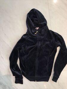 Juicy Couture Women's Navy Blue Velour Track Jacket Size M