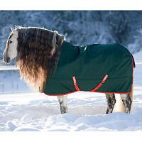 "Horseware Rambo THE ORIGINAL Turnout Rug Lightweight Lite 0g Green/Red 5'6""-7'3"""