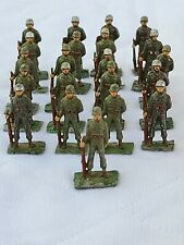 Lot of 21 SAE UNION OF S. AFRICA Miniature WW2 Toy Lead Soldiers at Parade Rest