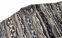 Roundtree & Yorke Vintage 90's Coogi Style Crewneck Sweater Medium Biggie Cosby