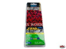 "KMC Z510HX 1/2"" x 1/8"" x 112 Link Chain Black & Red - Suit BMX"