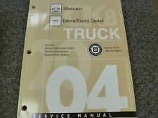 2004 Chevy Silverado GMC Sierra HVAC Brakes Axle Steering Service Repair Manual