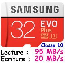 Samsung 32go Evo Plus 80mo/s MicroSD SDHC Uhs-i Class 10 Memory Card