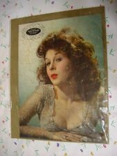 Vintage 1943 Esky Gift Kit Esquire Advertising Puzzle - Susan Hayward