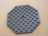 Lego 1 plate octogonal gris fonce / 1 dark bluish gray octogonal new 21304 60004