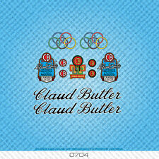 Claud Butler Bicycle Decals Transfers Stickers - Black & White Text - Set 0704
