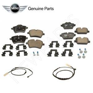For Mini Cooper Paceman R60 R61 Front & Rear Brake Pad Set w/ Sensors Genuine