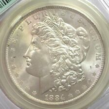 1884-O MORGAN SILVER DOLLAR MS-63 IN A OLD GREEN LABEL PCGS HOLDER!
