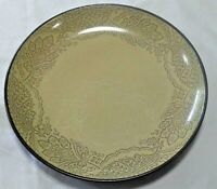 "Chandi Sage Dinner Plate 222 Fifth International 10 1/2"" Stoneware Green/Brown"