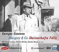 GEORGES SIMENON - MAIGRET & CO-MEISTERHAFTE FÄLLE  5 CD NEW