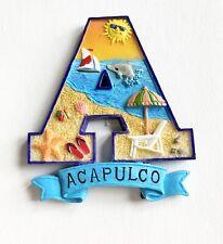 Acapulco Souvenir Tourist Beach Theme Letter A Magnet