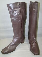 SUPERB BRAND NEW DAMART BROWN LEATHER LADIES BOOTS SIZE UK 8E/USA 10/EUROPEAN 41