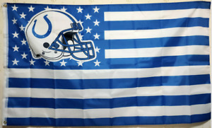 Indianapolis Colts helmet Nation Flag 3X5 FT NFL Banner Polyester FAST SHIPPING!