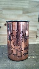 handmade copper engraved cups