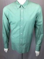 Men's B.D. Baggies NY Large New School All Cotton Solid Green L/S Shirt