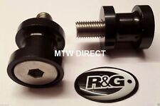 R&G M8 ANODISED ALUMINIUM PADDOCK STAND BOBBINS Suzuki GSX-R750 (2004 K4)