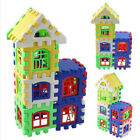 NEW 24pcs Baby Kids Children House Building Blocks Puzzle Educational Bricks Toy
