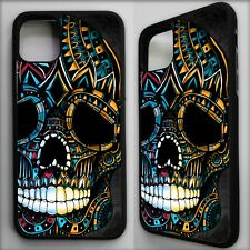 Sugar candy skull aztec mayan pattern case cover for iphone 11 pro / 11 pro max