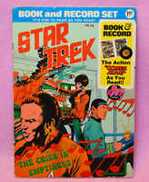 """Vintage 1975 STAR TREK Book and Record """" The Crier in Emptiness"""""""