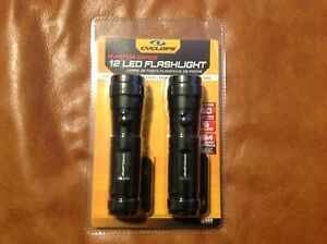 CYCLOPS: AVIATION GRADE - 12 LED FLASHLIGHT - 60 LUMENS - 2 PACK - NEW IN BOX
