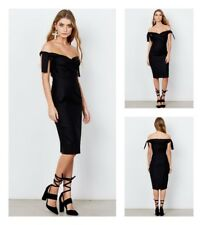 NWT Isla Midnight Mood Midi Dress size S/ 8AU Black RPR$180