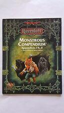 Ravenloft monstruoso compendio apéndices I y II AD&D VNC #2162 TSR 1996