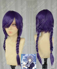 Chobits Cosplay Yuzuki Purple Double Braids Cosplay Wig