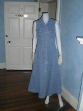 VINTAGE MOVIE BASIC 90's Denim Women's Blue Cotton Dress Button Front M