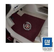 Cadillac DEVILLE 1993 LLOYD ULTIMAT MATS BURGUNDY 4 PC WREATH & CREST FRONT MATS
