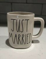 """NEW RAE DUNN """"JUST MARRIED"""" MUG LL LARGE LETTERS"""