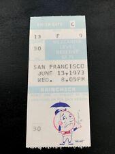 Tom Seaver 1,500th Strikeout Win #124 1973 6/13/73 Mets Giants Ticket Stub