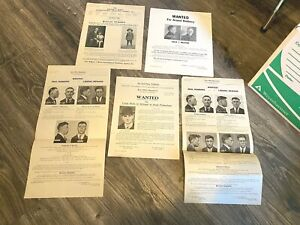 Wanted Posters ORIGINALS Lot 20s & 30s