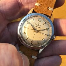Beautiful vintage 1950's Tissot 6916-1 17J automatic cross hair gilt dial watch