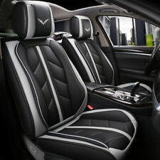 9pcs Interior Leather Car Seat Cover Waterproof 5-Seats Truck Full Set Protector