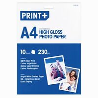 A4 High Gloss Photo Paper Bright White Coated Paper (10 Sheets) - New