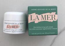 LA MER the moisturizing soft cream mini travel size .24 oz / 7 ml NEW IN BOX