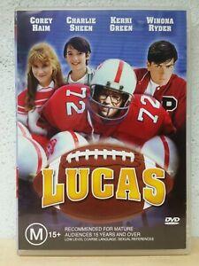 Lucas DVD - Region 4 Aust - Rare Sports Drama 1980s - Corey Haim