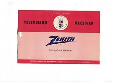 Zenith Television Receiver Operating Manual 1960s Phonevision