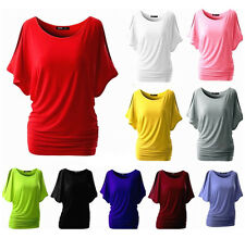 Summer Womens Casual Blouse Loose Batwing Sleeve Tops T-shirt Clothes Plus Size