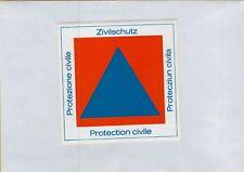 ADESIVO VINTAGE STICKER  PROTEZIONE CIVILE ZIVILSCHUTZ PROTECTION CIVILE