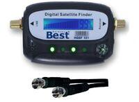 SAT-Finder LCD HDTV BEST Germany DIGITAL mit Ton SAT-Anlage ausrichten Satfinder
