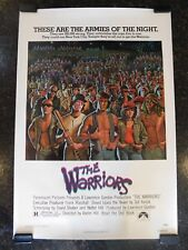 "THE WARRIORS Original 1979 Movie Poster, 27"" x 41"", C8.5 Very Fine/Near Mint"