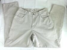 Tommy Bahama Indigo Palms Denim Co Mens Jeans Cream 33 x 32 Relaxed Fit Cotton