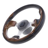"""320mm Boat Steering Wheel 3/4"""" Wheel & Hub Sport Marine Steering Hardware"""