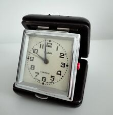vintage Soviet Russian SLAVA voyage table alarm clock made in USSR 11 jewels
